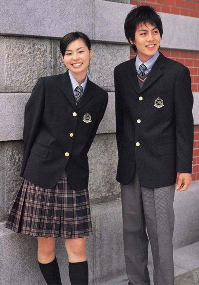 最新设计初高中学生制服