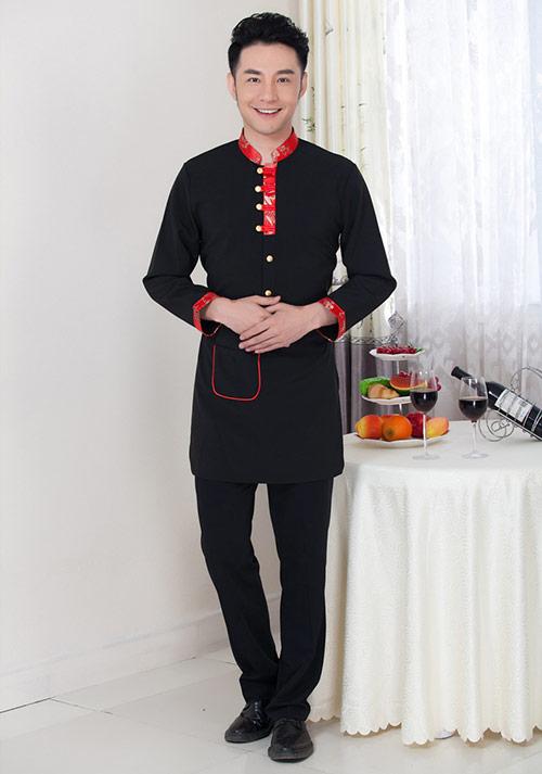 服务员服装男