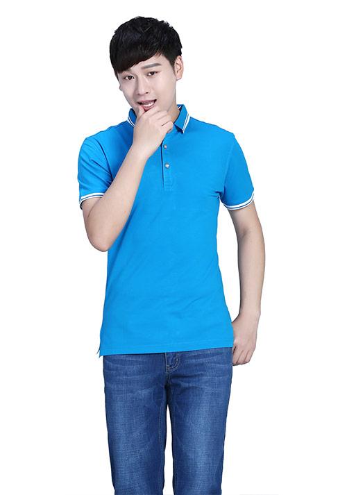 蓝色T恤纯棉