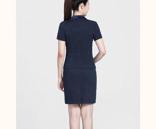 深蓝西裙女裙