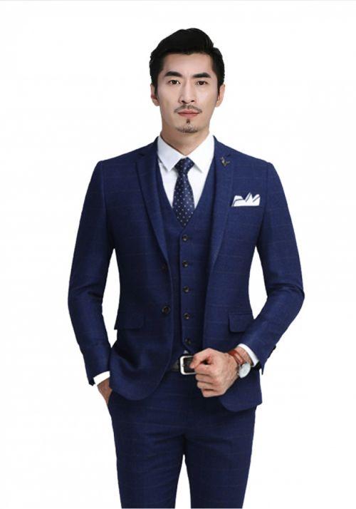 蓝色商务男士西装