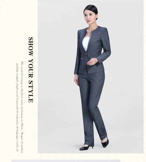 中灰色时尚女士职业装