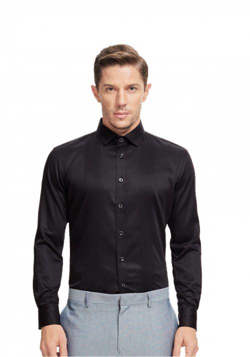 黑色男士职业衬衫